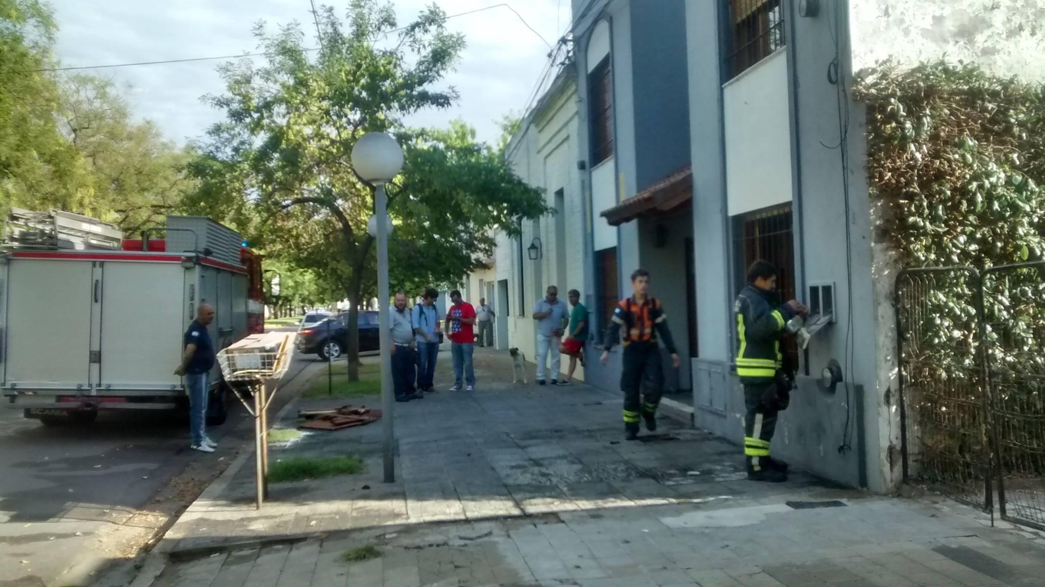 Incendio en vivienda de calle Quintana