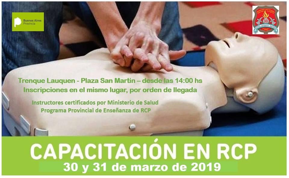 30 y 31 de marzo Capacitación en RCP