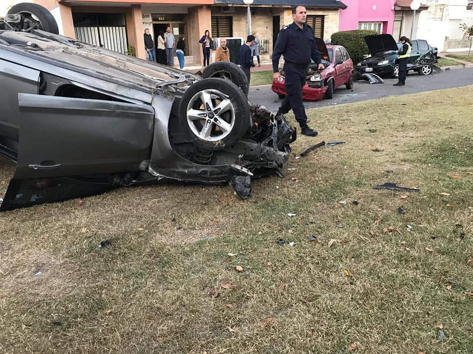 Incidente de tránsito en calle Monferrand