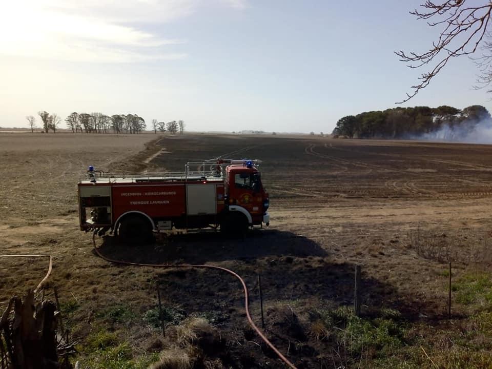 Incendio en Ruta Nacional Nº 5