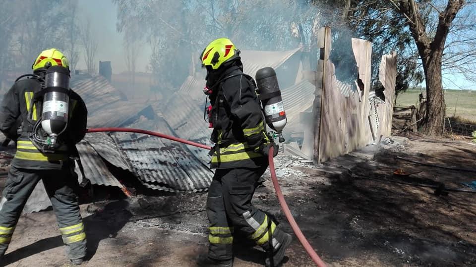 Incendio en vivienda de zona rural