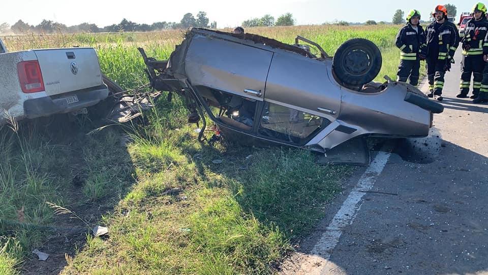 Violento accidente en ruta nacional 33