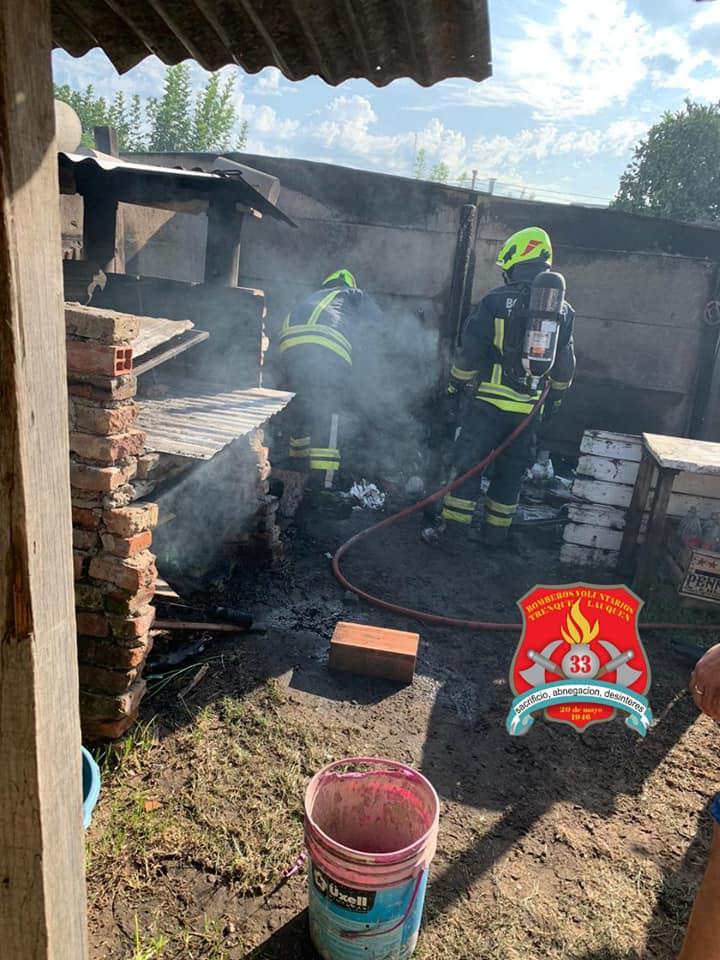 Incendio en el barrio Villegas