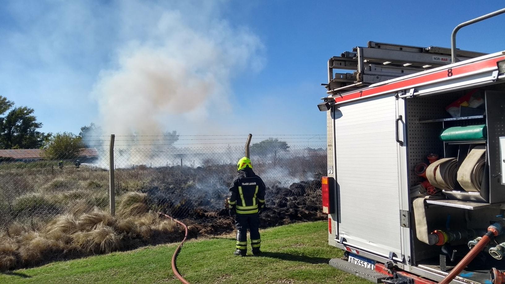 Incendio de pastos naturales