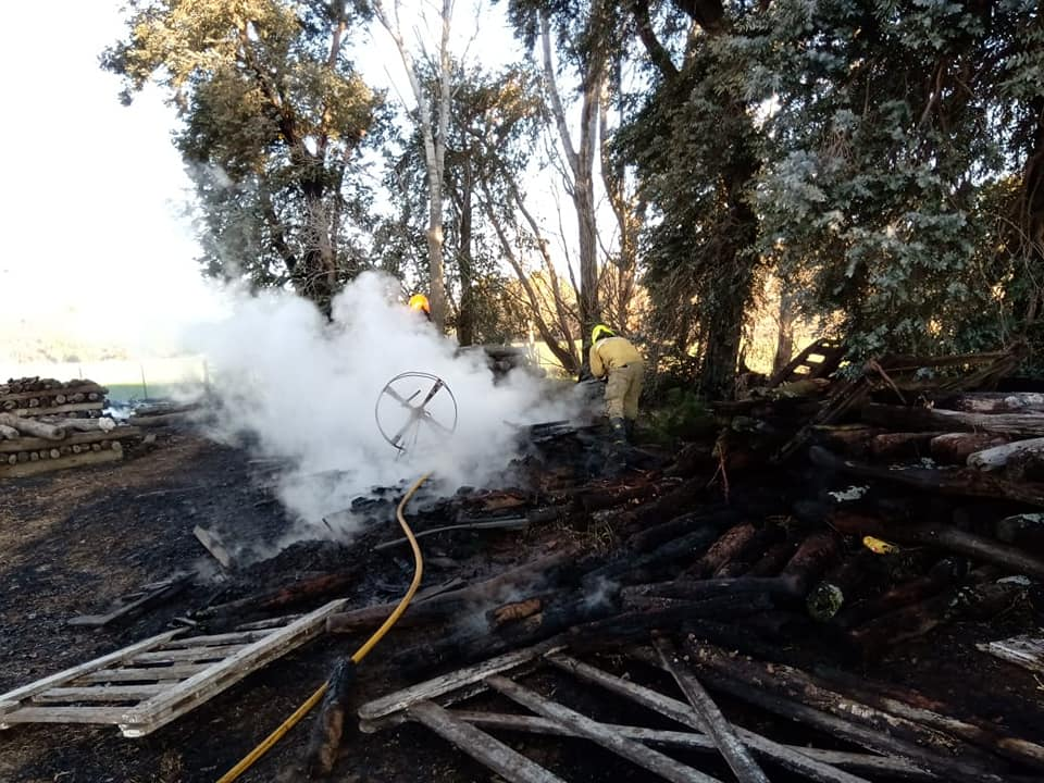 Incendio rural en Marilauquen