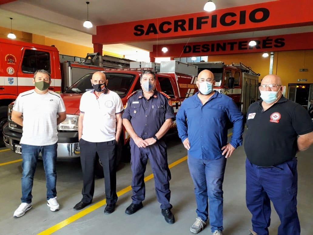 Nos visitó Fabián García, director provincial de Defensa Civil